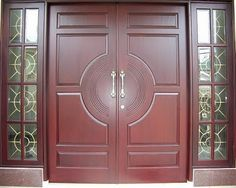 Tips Aman Saat Ditinggal Suami Tugas Luar Kota Door Design Interior, Main Door Design, Wooden Door Design, Front Door Design, Double Front Doors, Modern Front Door, Wooden Door Hangers, Wooden Doors, Dream Home Design
