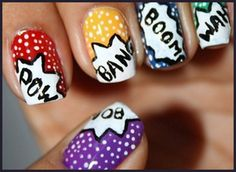 Simple Nail Art Design – Step by Step Process for Creating Comic Pop Art