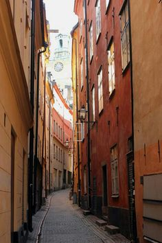 Stockholm's Gamla Stan. I love the narrow alleys.