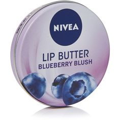 Nivea Lip Butter Blueberry 16.7g ($2.27) ❤ liked on Polyvore featuring beauty products, skincare, lip care, lip treatments, nivea, lip treatment and nivea lip care