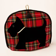 Scottie Dog Tartan tea cozy For those who love all things Scotland.the tartan is Royal Stewart red plaid cotton flannel. The Scottie dog is black velvet with a gold collar and a black button eye. All topped off with a black tassel and black Welsh Gifts, Scottish Gifts, Scottish Plaid, Scottish Tartans, British Gifts, Royal Stewart Tartan, Tartan Fashion, Gold Collar, Velvet Heart