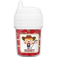 Red Western Baby Sippy Cup (Personalized)