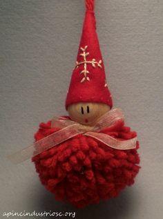 elfi ponpon - pompom elves christmas