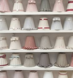 Examples of handmade lampshades from Bay design