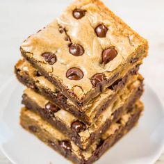 Browned Butter Chocolate Chip Blondies Recipe