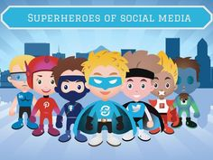 Click to see the #infographic Superheroes of Social Media. Which hero of social media superhero do you identify with? See their powers. #marketing #partnershipmarketing #togethermarketing #crosspromotions #marketingpartnership #marketingstrategy #ecommerce #digitalmarketing