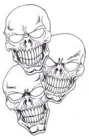 evil skull drawings - Buscar con Google