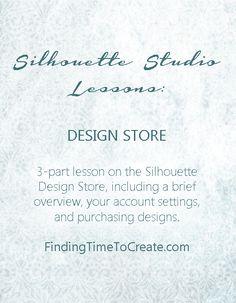 Silhouette Studio Design Store Lesson