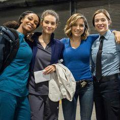 Chicago Med & P.D. | Yaya DaCosta (April), Rachel DiPillo (Reese), Sophia Bush (Lindsay) and Marina Squerciati (Burgess)