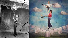 Fotos históricas são transformadas em imagens mágicas e coloridas