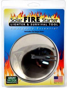 Solar powered lighter Emergency firestarter Perfect for survival supplies http://survivalism-lifegear.net/shop/