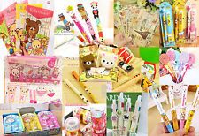 Cute Kawaii Fun Ball Pen Stationary Card SanX Rilakkuma Sticker tape Grab lot US
