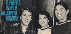 Geraldo Vandré, Roberto Carlos e Chico Buarque  - Reprodução/Revista Manchete