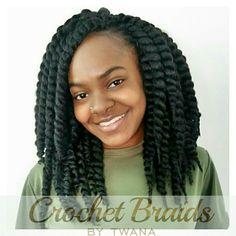 Crochet Braids with Havana Mambo Twist 12. 8 packs for fullness. 10 ...