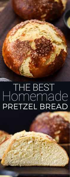The BEST Homemade Pretzel Bread recipe ever. Seriously once you make this you will never be able to eat store-bought pretzel bread again! It's dense soft chewy buttery salty and oh-so-delicious. We've included a video with step-by-step instructions! Bread Recipe Video, Best Bread Recipe, Pan Pretzel, Pretzel Rolls, Pretzel Bread Recipes, Pretzel Bread Recipe For Bread Machine, Pretzel Bread Sandwich, Sourdough Pretzel Recipe, Bread Dough Recipe