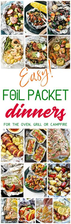 Easy Tin Foil Packets Dinners Recipes - Easy meal prep and easy, quick clean up! So many delicious chicken, beef, salmon, pork, shrimp and chicken tin foil packet dinners you and your family can enjoy making in the oven all year long, throwing on the backyard grill or tossing in the campfire coals this summer! Dreaming in DIY