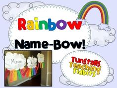 Cute project for the beginning of the school year. Rainbow name acrostic poem from Tunstall's Teaching Tidbits Classroom Crafts, Classroom Activities, Classroom Organization, Classroom Ideas, Kindergarten Activities, Organization Ideas, Beginning Of School, First Day Of School, Back To School
