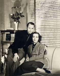 Lot 39A- Joan Crawford and Franchot Tone Signed Photograph by Photographer George Hurrell. 8'' x 10'', EX, guaranteed authentic.