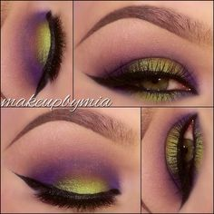 Purple and green eyeshadow @ makeupbymia( I like that color everything purple lol)