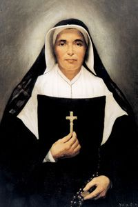 Saint Mother Théodore Guérin (1798–1856), designated by the Vatican as Saint Theodora, is the foundress of the Sisters of Providence of Saint Mary-of-the-Woods, Indiana, a congregation of Catholic nuns. Feastday, October 3