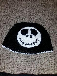 jack from nightmare before Christmas. crochet beanie by Mottley Creations.  Crochet Beanie d57d78c0a4dd