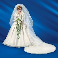 Shop The Bradford Exchange for Princess Diana Bride Doll. On July Lady Diana Spencer married Charles, Prince of Wales, in a fairy tale wedding watched by millions around the world. Now, give tribute to that magical day with the commemorative Princess. Princess Diana Wedding Dress, Barbie Wedding Dress, Wedding Doll, Wedding Dresses, Barbie Bridal, Royal Brides, Royal Weddings, Lady Diana, Princess Diana Pictures