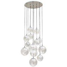 6 Impressive XXL Glass balls Chandeliers by RAAK Amsterdam Holland 1960