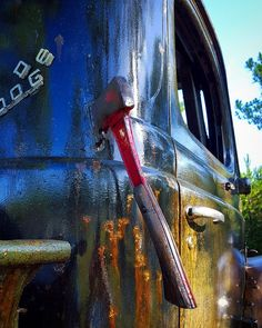 Cool handle idea of an axe welded to the body as a handle for listed truck