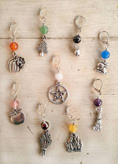 Wheel of the Year Stitch Markers ~ Study of Ancient Runes