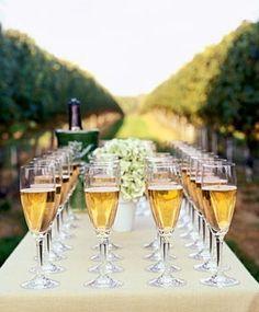 Vineyard Wedding Drinks