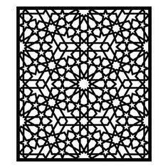 Motifs Islamiques, Islamic Motifs, Islamic Art Pattern, Arabic Pattern, Pattern Art, Pattern Design, Geometric Designs, Geometric Shapes, Geometric Patterns