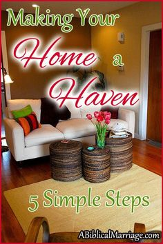 I think it's so important to always be checking (and reworking) the tone of your home. Is your atmosphere that of a loving haven? Here are a few tips to help you get back on the right track! http://youngwifesguide.com/five-ways-to-make-your-home-a-haven/