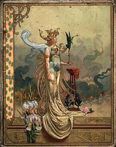 """Pallas Athena"" ~ Louis Théophile Hingre ~ Born November 19, 1932 predating Mucha by 28yrs who was born July 24, 1860. Most of his work was done while Mucha was still an infant which makes him the true father of Art Nouveau (even though Mucha popularized it). ~ Click through the large version for a full-screen view (with a black background in Firefox). Set your computer for full-screen. ~ Miks' Pics ""Alphonse Mucha"" board @ http://www.pinterest.com/msmgish/alphonse-mucha/"