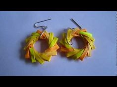 b Paper Jewelry Handmade Origami Wreath Earrings jewelry.b The post Paper Jewelry Handmade Origami Wreath Earrings jewelry.b appeared first on Paper Ideas. Origami Jewelry, Quilling Jewelry, Paper Jewelry, Paper Quilling, Origami Wreath, Origami Flowers, Fabric Beads, Paper Beads, Bead Crafts