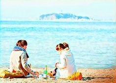 """ Togetherness on the beach ""Boku No Ita Jikan/ The hours of my life 2014) #prisma #miuraharuma #harumamiura #mikakotabe #takumisaito #bokunoitajikan #thehoursofmylife #jdrama #dramaddict #dramafever #japanesedrama #doramalovers #doramajepang"