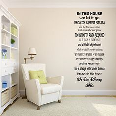 In This House We Do Geek Wall Decal - Living Room Decor - Fantasy Star Wars Galactica Fandom Vinyl Sticker Disney Wall Decals, Vinyl Wall Decals, Wall Sticker, Bathroom Picture Frames, Star Wars, In This House We, To Infinity And Beyond, Office Wall Decor, Disney Quotes