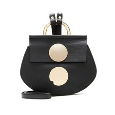 Chloé Faye Mini Leather Shoulder Bag (¥97,870) found on Polyvore featuring bags, handbags, shoulder bags, black, black handbags, black leather shoulder bag, black purse, chloe handbags and black leather handbags