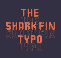 The Shark Fin Typo Free Font #freefonts #brushfonts #scriptfonts #typeface #freebies #FridayFreebie