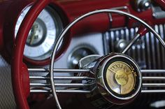 Images of Steering Wheels by Jill Reger - Steering Wheel Images -   1953 Buick Skylark Convertible Steering Wheel