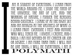 Polymath: I am a student in Life Multiversity Faculty. Quotes To Live By, Life Quotes, Alternative Education, Think Deeply, Lessons Learned In Life, Renaissance Men, Knowledge Quotes, Life Purpose, Life Advice