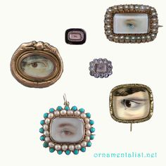 momento mori eye brooches <3 I want one or several of these.