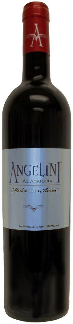 #Angelini Estate #Merlot Per Amici #Varietal: 100% Merlot  Color: Deep ruby red with purple tones  Bouquet:Soft leather and vanilla  Taste: Rich and luscious with integrated flavors of ripe #cherries, oak and #cedar. Finishes with a velvety soft texture  Food #Pairing: #Crostini, hand made #pasta, rib eye steak and aged #cheeses   http://www.angeliniwine.com/Angelini_Estate_Merlot_Per_Amici_Red_2008/?list=true