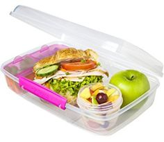 Sistema Bento Lunch Box to Go, Pink by Online Kitchenware