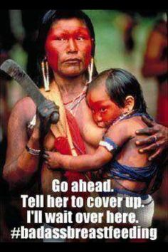 Go ahead. Tell her to cover up. I'll wait over here.