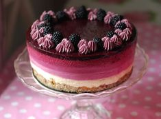 Réteges szeder-mousse torta Mousse Cake, Cheesecake, Sweets, Cookies, Baking, Recipes, Food, Blackberry, Drinks