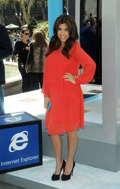 Kourtney Kardashian always looks so cute while pregnant.