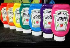 I used to use the kind that don't close on top (like at a diner) for my liquid tempera paint but they would clog a bit... wonder if this would solve that problem?
