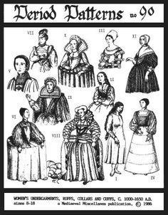 Women's Undergarments, Ruffs, Collars & Cuffs Pattern Per...