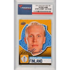 Patrik Laine Team Finland   Autographed  2016 Upper Deck World Cup of Hockey Rookie #WCH-25 Card