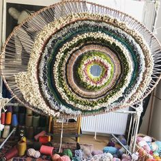 Tapestry weaving by Tammy Kanat #weaving #textileart